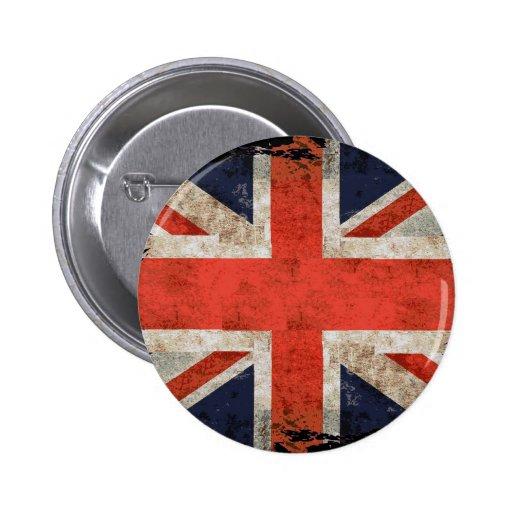 Union Jack déchiqueté âgé Badge