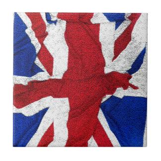 Union Jack, drapeau, bleu, nation Etats-Unis fiers Petit Carreau Carré