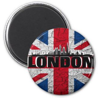 Union Jack et Skyline de Londres aimant de réfrigé
