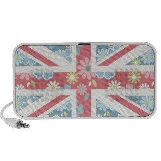 Union Jack floral Haut-parleur Mp3