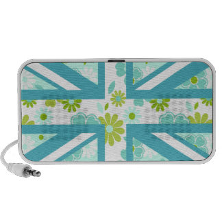 Union Jack floral Haut-parleurs iPhone