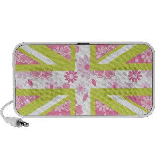 Union Jack floral Haut-parleurs iPod