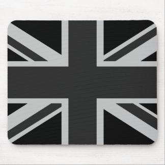 Union Jack noir Mousepad Tapis De Souris