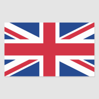 Union Jack Royaume-Uni Stickers En Rectangle