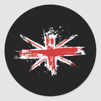 Union Jack Splatter Sticker
