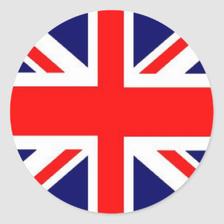 Union Jack Sticker Rond