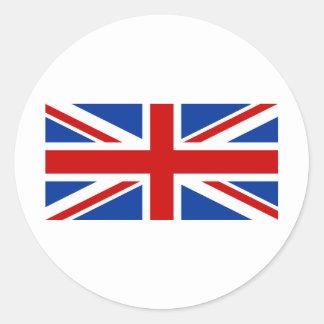 Union Jack Sticker Rond