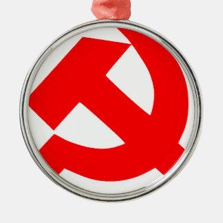Union Soviétique primitive CCCP de marteau et de Ornement Rond Argenté