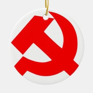 Union Soviétique primitive CCCP de marteau et de Ornement Rond En Céramique