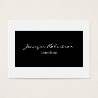 Unique simple blanc noir simple classique cartes de visite