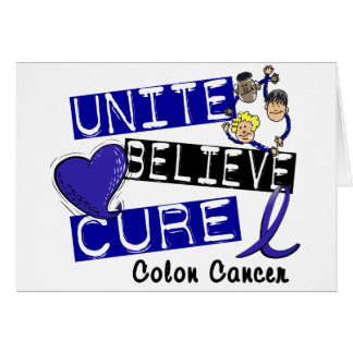 UNISSEZ CROIENT le cancer du colon de TRAITEMENT Carte De Vœux