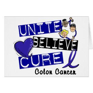 UNISSEZ CROIENT le cancer du colon de TRAITEMENT Cartes