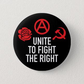 Unissez pour combattre le bouton droit badge
