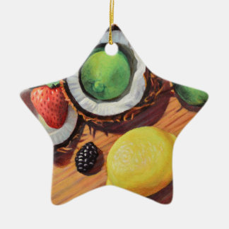 Unité de noix de coco de citron de chaux de ornement étoile en céramique