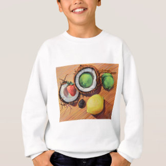 Unité de noix de coco de citron de chaux de sweatshirt