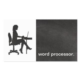 Unité de traitement de texte juridique de silhouet cartes de visite personnelles