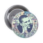 Unité d'Obama, espoir, changement et paix 2012 Pin's