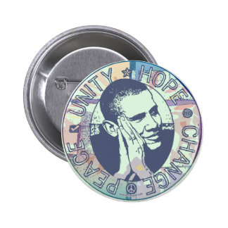 Unité d'Obama, espoir, changement et paix 2012 Badges