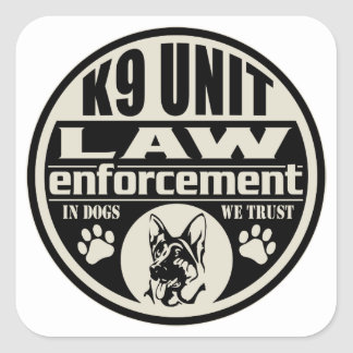 Unité K9 chez les chiens que nous faisons Sticker Carré