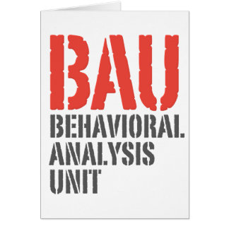 Unités d'analyse comportementale de BAU Cartes