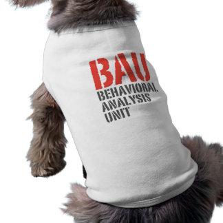 Unités d'analyse comportementale de BAU T-shirt Pour Chien