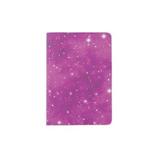 Univers rose et pourpre d'art abstrait protège-passeport