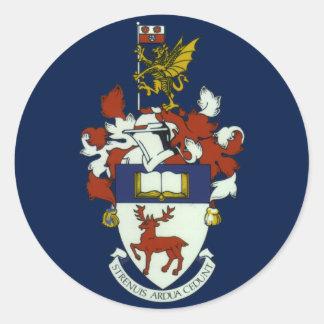 Université d'autocollant de crête de Southampton Sticker Rond