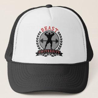 Université de bête de musculation casquette
