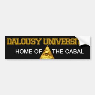 Université de Dalousy - à la maison de la cabale Autocollant De Voiture
