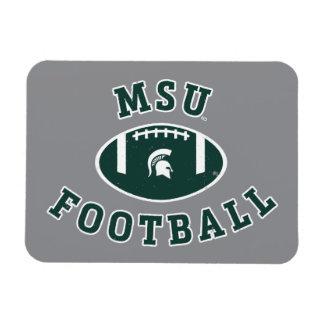 Université de l'Etat d'État du Michigan du Magnet Rectangulaire Avec Photo