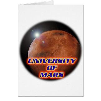 Université de Mars Carte De Vœux