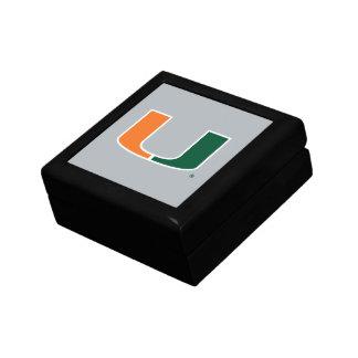 Université de Miami U Petite Boîte À Bijoux Carrée