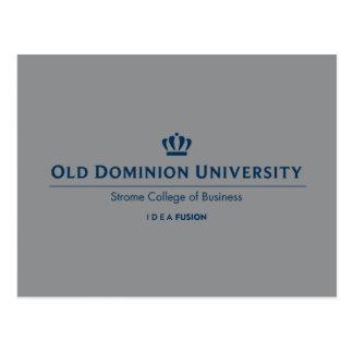 Université d'ODU Strome des affaires - bleu Carte Postale