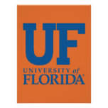 Université d'uF de logo de la Floride Affiche