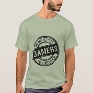Université grunge de T-shirt de jeu des Gamers