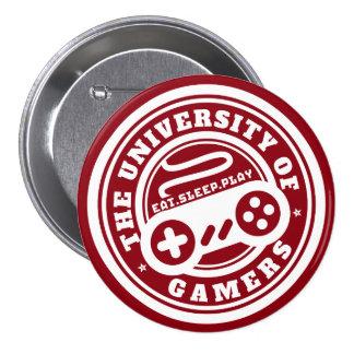 Université rouge de bouton de jeu de phoque de badge