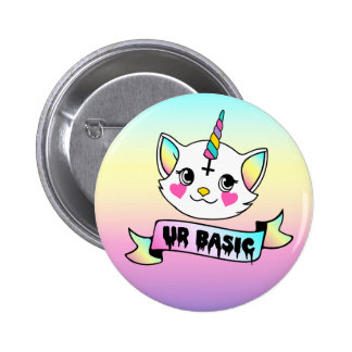UR de base - licorne mignonne de Kitty Badges