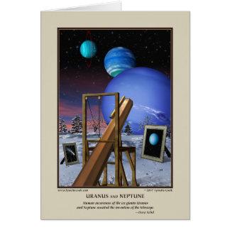 Uranus et carte de Neptune