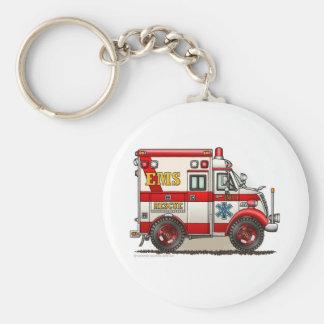 Urgence de l'ambulance SME EMT de boîte Porte-clé Rond