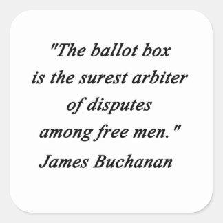 Urne - James Buchanan Sticker Carré