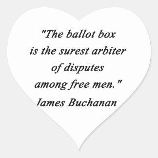Urne - James Buchanan Sticker Cœur