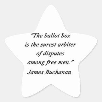 Urne - James Buchanan Sticker Étoile