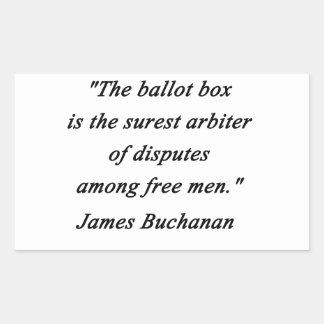 Urne - James Buchanan Sticker Rectangulaire