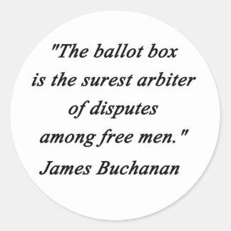 Urne - James Buchanan Sticker Rond