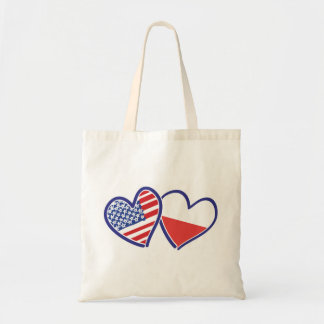 USA-POLISH-FLAG-HEARTS TOTE BAG