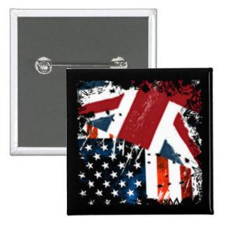 USA$UK BADGE CARRÉ 5 CM