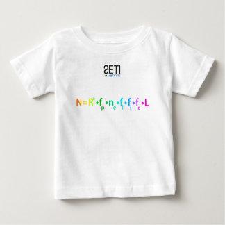 Usage de bébé avec le logo de SETI et l'équation T-shirt Pour Bébé