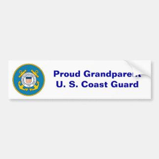 USCGSealcolor, GrandparentU fier. S. La garde côti Autocollant Pour Voiture