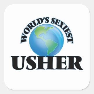 Usher le plus sexy du monde autocollants carrés