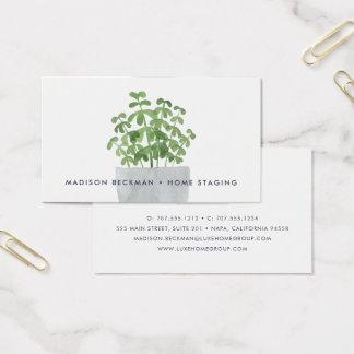 Usine d'aquarelle cartes de visite